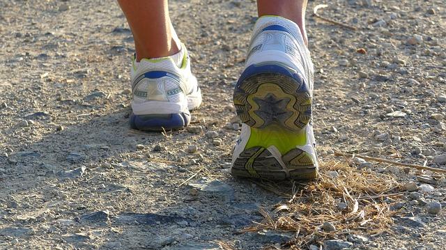 boty při běhu