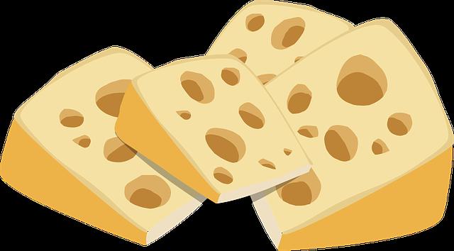 Sýr v kuchyni a na stole