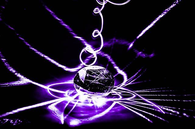 fialový laser