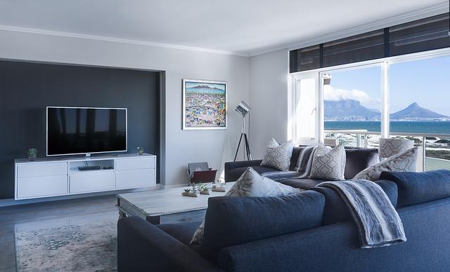minimalistický obýváka