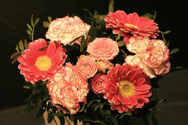 kombinace květin
