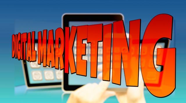 digitální marketing – je to pouze nápis přes elektroniku