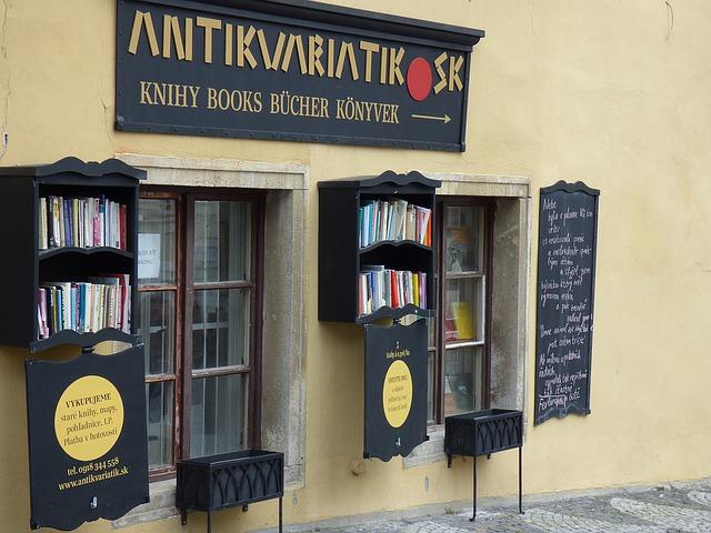 Nově otevřený antikvariát