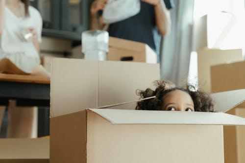 stěhování dítě